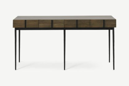 An Image of Rakara Wide Console Table, Mango Wood