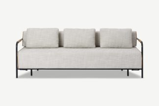 An Image of Nestor Sofa Bed, Ecru Loop Textured Boucle