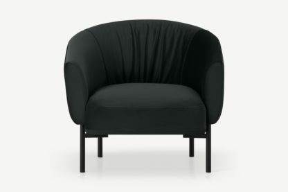 An Image of Melrose Accent Armchair, Dark Anthracite Velvet