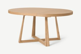 An Image of Belgrave Round 4-6 Seat Extending Dining Table, Oak