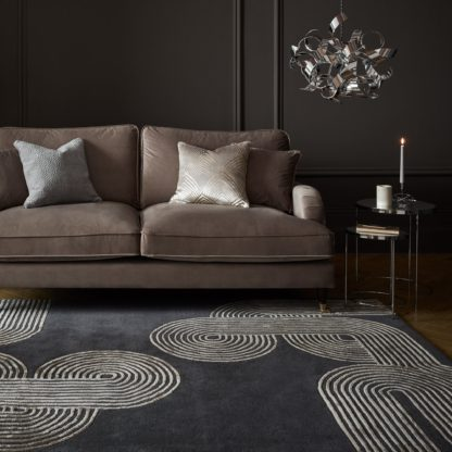 An Image of Maki Wool Mix Rug Grey
