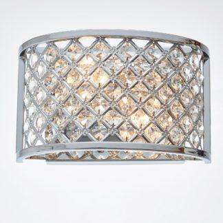 An Image of Endon Hudson 2 Light Crystal Wall Light Chrome
