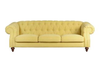 An Image of Buster 3 seat sofa Malaga Mustard