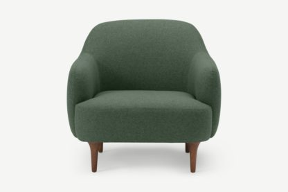 An Image of Lupo Snuggler Armchair, Darby Green