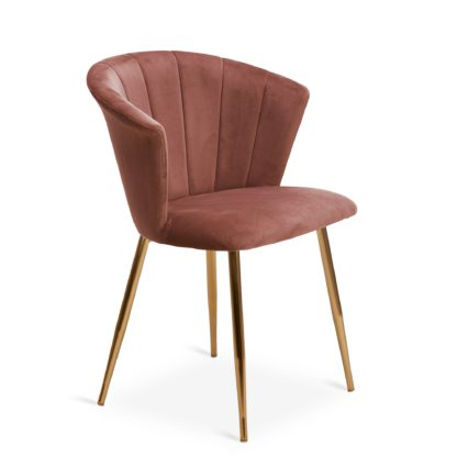 An Image of Kendall Chair Rose Velvet Blush