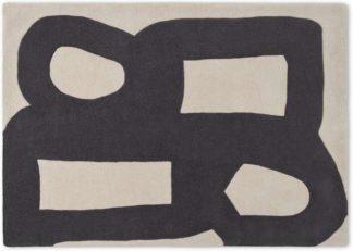 An Image of Maali Handtufted Wool Rug, Large 160 x 230cm, Ecru & Charcoal Grey