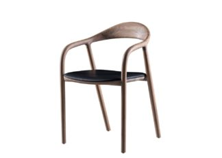 An Image of Artisan Neva Dining Chair Leather Seat