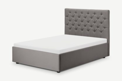 An Image of Skye King Size Bed with Ottoman Storage, Owl Grey Weave