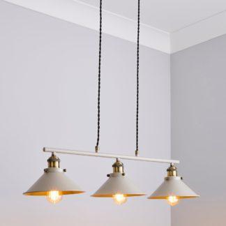 An Image of Logan 3 Light Diner Ceiling Fitting Mushroom