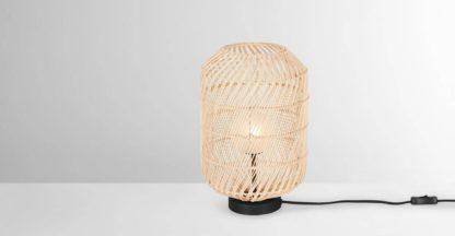 An Image of Java Table Lamp, Natural Rattan