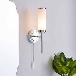 An Image of Dorma Harring Bathroom Wall Light Nickel