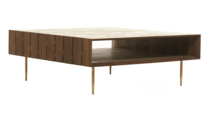 An Image of De La Espada Horizon Coffee Table Walnut Large