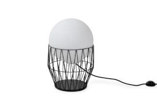 An Image of Ligne Roset Azabu Table Lamp Small Black