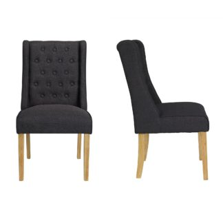 An Image of Lorient 2 Dining Chairs Grey