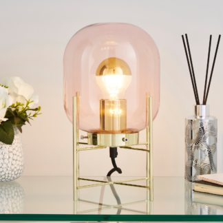 An Image of Dayo Table Lamp Pink Chrome