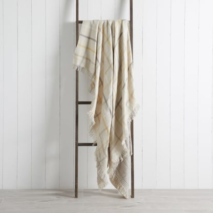 An Image of Layton Check 130cm x 180cm Throw Blush