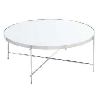 An Image of Oakland Circular Chrome Coffee Table Silver