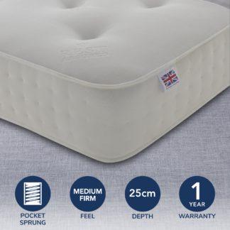 An Image of Rest Assured 1000 Pocket Orthopaedic Mattress White