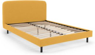 An Image of Besley King Size Bed, Yolk Yellow
