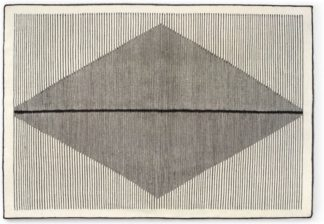 An Image of Camden Diamond Wool Rug, Large 160 x 230cm, Black and Off White