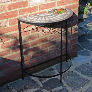 An Image of Summer Terrace Brava Semi Table Natural