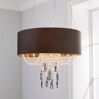 An Image of Halle 3 Light Jewel Shaded Charcoal Ceiling Fitting Charcoal and Clear