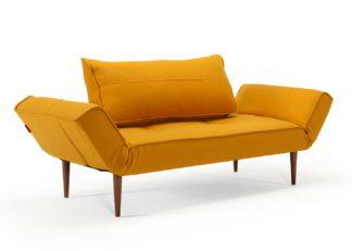 An Image of Heal's Tilt Sofa Bed Dessin Mustard