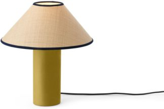 An Image of Haroon Bedside Table Lamp, Raffia & Gold Velvet