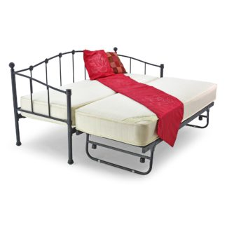 An Image of Paris Black Small Single Day Bed Black