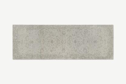 An Image of Yolanda Faded Persian Jacquard Runner, 66 x 200cm, Off White
