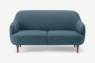 An Image of Lupo 2 Seater Sofa, Orleans Blue