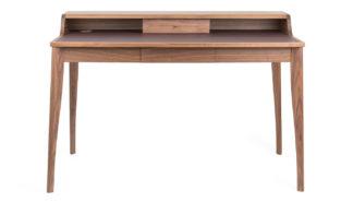 An Image of Pinch Yves Desk Walnut & Aubergine Leather - 2006 Finalist