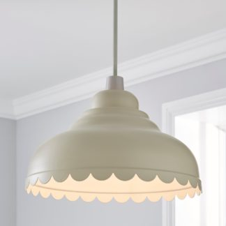 An Image of Sofie Scalloped Easy Fit Pendant Cream