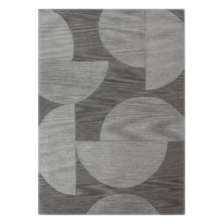 An Image of 5A Fifth Avenue Grey Half Moons Rug Grey