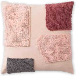 An Image of Mosie Tufted Cotton Cushion 45 x 45cm, Soft Pink