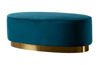 An Image of Selini Footstool – Peacock