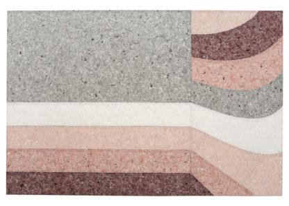 An Image of Gandia Blasco Nuances Rug Curve Burgundy 200 x 300cm