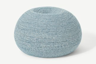 An Image of Pryia Outdoor Cocoon Bean Seat, Blue