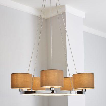 An Image of Talinn LED 5 Light Ceiling Fitting Grey