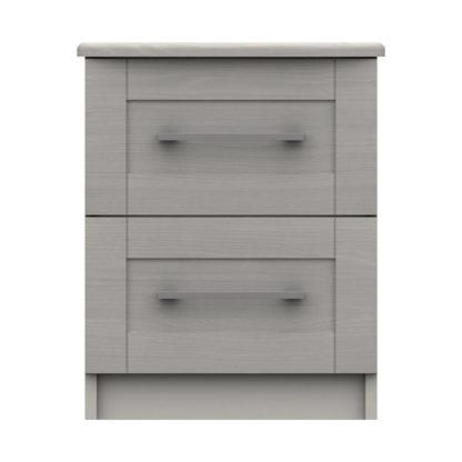 An Image of Ethan Light Grey 2 Drawer Bedside Grey