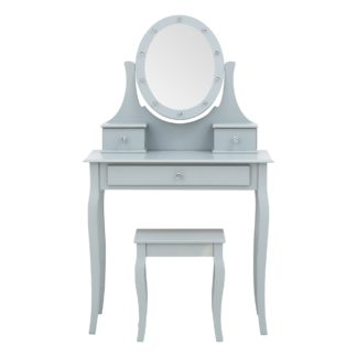 An Image of Grace LED Dressing Table Grey