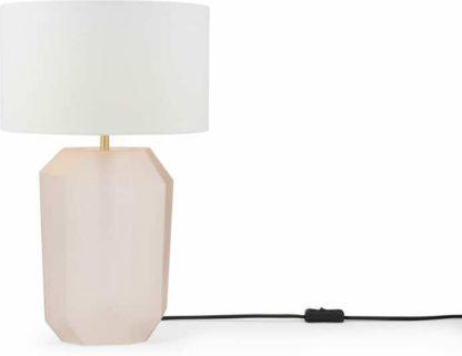 An Image of Aquari Glass Table Lamp, Pink