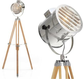 An Image of Alfred Tripod Floor Lamp, Natural Wood