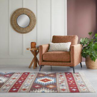 An Image of Akila Wool Kilim Rug MultiColoured