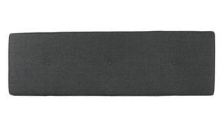 An Image of Heal's Brunel Blanket Box Cushion Smoke Grey