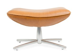 An Image of Heal's Hidde Footstool Indian Buffalo Natural Leather Hide