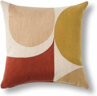 An Image of Zayyan Embroidered Cushion, 45 x 45cm, Terracotta