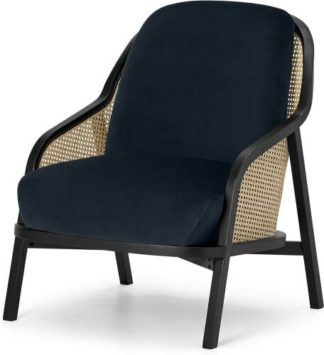 An Image of Anakie Accent Armchair, Twilight Blue Velvet
