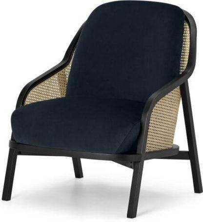 An Image of Anakie Accent Armchair, Twilight Blue Velvet