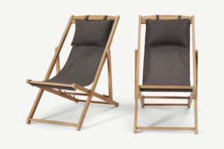 An Image of Botany Set of 2 Classic Beach Chairs, Taupe